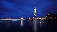 Portsmouth Harbour (nickcoates74) Tags: bluehour night harbour oldportsmouth 12mmf20 12mm samyang ilce6300 a6300 sony spinnakertower spinnaker portsmouth