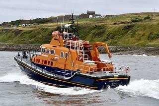 RNLB Bon Accord - Aberdeen Harbour Scotland - 12/8/18