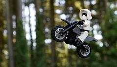 Off-Roading on Endor [Old Photo] (BeachStorminBricks) Tags: lego star wars biker scout endor