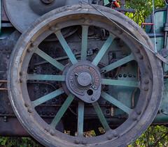 Tractor wheel (kerryhilden) Tags: history vintage old wooden tractors train steam tractor wheel