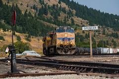 Spencer (jameshouse473) Tags: monida pass spencer idaho unionpacific railroad railway switch station sign mountain train manifest