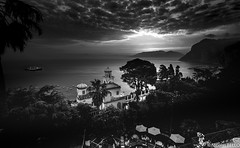 Sunset - Capri - Italie (NICOLAS BELLO) Tags: sky sea soleil lumiere marin landscape amazing nature capri light beaches beautiful italia italie night baw sun mer coats chateau ciel cloud luminosite sony paysage beach noiretblanc marine blackandwhite sunset architecture clouds monochrome coucherdesoleil luminosity bw