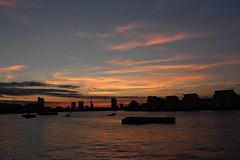 Greenwich (Rae_Gellel) Tags: greenwich royal london england uk south east se pier thames clipper river water sunset dusk sky skyline city boat boats