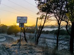 Sunrise Sign (Laika Yeener) Tags: light l16 sydney hume highway sutton forrest winter frost australia