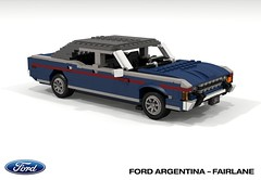 Ford Argentina - Fairlane (lego911) Tags: ford motor company argentina do fairlane 1969 1960s 1970s v8 sedan saloon south america auto car moc model miniland lego lego911 ldd render cad povray 500 ltd 1973 foitsop