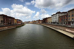 Arno (airSnapshooter) Tags: river arno tuscany pisa clouds water wind city italy sky blue building outdoor cityscape landscape