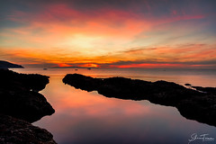 Sunrise in Cushendall (PerfectCaptureNI) Tags: northernireland northernirelandphotography northcoast countyantrim cushendall sunrise colour clouds morning canon benro haidafilters landscape seascape sky reflections sea water