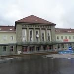 Villach, Carinthia, state of Austria (the art of railway stations of Kärnten), Bahnhofplatz (Hauptbahnhof Villach)
