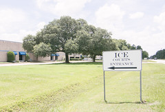 ICE Courts, Greens Rd, Houston, TX 1806241358 (Patrick Feller) Tags: department homeland security dhs immigration customs enforcement ice court courts incarceration immigrants refugees detained borders criminalized criminalizing families adults children parents separating detention camps internment concentration camp