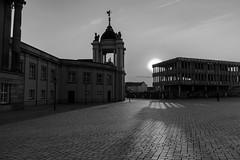 Evening in Potsdam (KPPG) Tags: 7dwf monochrome bw schwarzweis potsdam brandenburg germany deutschland schatten gegenlicht backlit stadt stadtansicht city cityscape architecture architektur sunset sonnenuntergang
