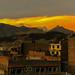Cordillera Blanca in sunset