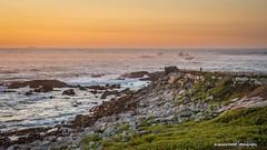 Cabo Silleiro (Ignacio Ferre) Tags: galicia españa spain landscape paisaje sunset puestadesol nikon océano océanoatlántico atlanticocean sea mar ocean baiona cabosilleiro nature light naturaleza luz costa roca
