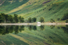 Buttermere Glass (Rich Walker Photography) Tags: buttermere lakedistrict mirror glass water reflection reflections lake lakes tree hut trees landscape landscapes landscapephotography landmark landmarks england canon eos80d eos cumbria