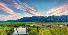 Teton Village Sunset Pano (sassiitalytours) Tags: tetonvillage tetons grandteton sunsets wyoming nikond810 nikon hdr pano panoramic