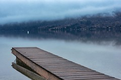 0814 Little Pier In The Blue Morning (Hrvoje Simich - gaZZda) Tags: landscape outdoors noperson forest pond longexposure pier morning fog mist travel bohinj slovenia europe nikon nikond750 nikkor283003556 gazzda hrvojesimich