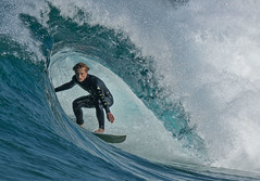 Barrelled (OzzRod) Tags: surfer waverider boardie surf swell wave breaker barrel newcastle hdpentaxdfa150450mmf28 k3 pentax