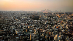 #173 Shinjuku in the distance (tokyobogue) Tags: tokyo japan sangenjaya nexus6p nexus sunset dusk evening sun city cityscape urban buildings 365project shinjuku