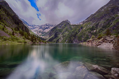 Lac du Lauvitel (N.Hell) Tags: lake water sky cloud moutain pure long exposure canon wide angle reflection rock tree nature colour calm relax tranquility hiking