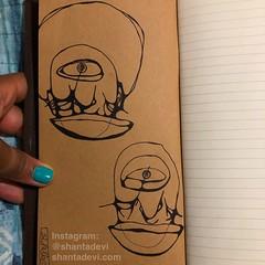 faces. (shanta.devi) Tags: penandpaper femaleartist blackgirlmagic blackartist sketches sketchbook thirdeye faces doodles artjournal travelersnotebook art artbyshantadevi