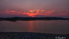 Sunset at Alum Creek Dam! (Edale614) Tags: sunset sunsetsaroundtheworld dusk alumcreek lake lakescape lakeside reflection naturephotography naturelovers nature photography photo photooftheday picoftheday earl614 exploreohio columbus ohio