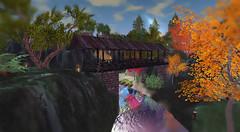 Kissing Bridge (G. Inc.) Tags: secondlife metaverse sl landscape virtualworld lindenlab rendering render bridge 3d