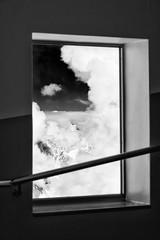 Window to the sky (SLpixeLS) Tags: blackandwhite chamonix aiguilledumidi cloud france art artistic artphotography snow sky mountain window