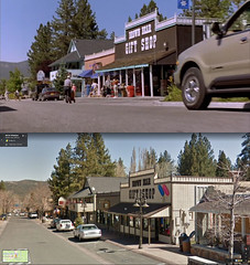 Brown Bear Gift Shop - Late 1990s vs 2010s (RS 1990) Tags: brownbear giftshop pineknotavenue bigbearlake bigbearvillage ca california usa unitedstates pastandpresent passingtime thenandnow beethovens3rd beethoven movie film location spot building