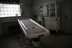 Embalming Table inside Abandoned Funeral Home (Abandoned Illinois) Tags: abandoned illinois funeral home embalming table doctor medical equipment creepy scary haunted casket coffin fluid eerie morbid antique