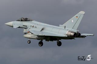 31+34 German Air Force (Luftwaffe) Eurofighter Typhoon