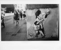 Milano (Valt3r Rav3ra - DEVOted!) Tags: fuji fujiinstaxwide300 instantfilm instantcamera instax bw biancoenero blackandwhite film streetphotography street valt3r valterravera visioniurbane urbanvisions milano graffiti