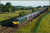 92023 at the Toft (Jason 87030) Tags: inverness fortwilliam caledonian sleeper beds 1m16 morning sleep dyson class92 blue green stock fence spot shot ts lineside 92023 wcml northants northamptonshire railway trains aberdeen londoneuston light weather june 2018