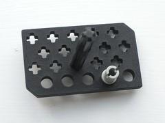 Shapeways Hole Test (technoandrew) Tags: lego 3d printing shapeways black plastic wheel train railway axle hole test moc prototype small bulleid boxpok custom