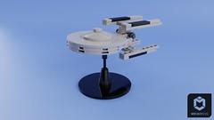 USS Stargazer (ORION_brick) Tags: lego star trek uss constellation class friend stargazer gazer gaze render mecabricks ncc refit tng picard captain