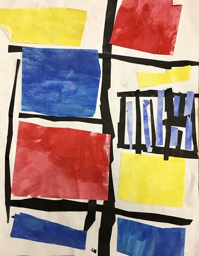 """Every year I get new favorites with this #kindergarten #pietmondrian  inspired painted paper gridded #collage ❤️❤️  They have such an amazing lyricism at this age that I admire so much. Want em all! • <a style=""""font-size:0.8em;"""" href=""""http://www.flickr.com/photos/57802765@N07/42991415375/"""" target=""""_blank"""">View on Flickr</a>"""