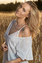 Kailey (austinspace) Tags: woman portrait model blond blonde dress summer park meadow grass grasses sunset dusk magichour ultimate thebest