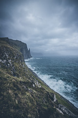 World ends here (Rene Wieland) Tags: faroeislands travel shore coast mountain hiking wanderlust rough clouds ocean atlantic nature natur landschaft landscape