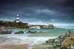 Stroove Lighthouse (jim2852) Tags: beach shore lighthouse stroovelighthouse shroove rocks ocean waves colour landscape ireland donegal bluehour sand buildings houses