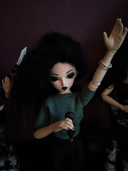 Rock is not only for bad boys! (luxatica) Tags: minifee fairyland doll bjd mnf rock metal music chloe mnfchloe minifeechloe