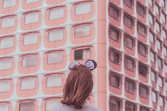 L'Oeil de Paris. (Violette Nell) Tags: violettenell paris portrait vintage france cityscape 35mm 35mmfilm filmphotography analog girl youth fashion feelings aesthetics escape places mood travel urbanpoetry art streetphotography colors photo streetphoto city pastel dream