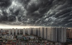 Black clouds take over the city (Thien Thach Photography) Tags: hanoi hanoicityscapes hanoicityscape cityscape landscape cloud storm buildings horizon hdr thienthachphotography