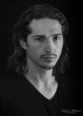Daniel (Rainfire Photography) Tags: headshot portfolio blackandwhite bw portrait studio nikon d7200