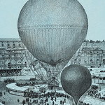 Large Captive Steam Balloon of the Tuileries Courtyard, Paris by artist Henri Gifford (1825-1882) at Lahure, rue de Fleurus 1878. Original from Library of Congress. Digitally enhanced by rawpixel. thumbnail