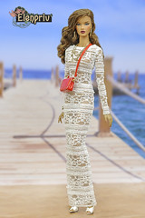 Lovely white lace dresses for Fashion Royalty dolls (elenpriv) Tags: white lace dress decisive itbe fashionroyalty 16fashion 16inch fr16 doll integrity toys jasonwu handmade clothes dollclothes elenpriv elena peredreeva seacruise collection