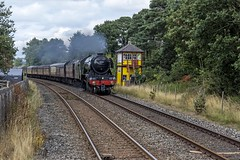 """LNER A3 Class No 60103 Flying Scotsman pulling """"The Cumbrian Mountain Express"""" seen here approaching Armathwaite Station on Settle Carlisle Line – 4th Aug 2018. (penlea1954) Tags: lner a3 class no 60103 flying scotsman the cumbrian mountain express armathwaite station settle carlisle line uk steam trains loco most famous cumbria railway railways mainline"""
