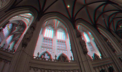 Sint-Jan Den Bosch 3D GoPro (wim hoppenbrouwers) Tags: sintjan denbosch 3d gopro anaglyph stereo redcyan cathedral