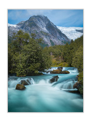 Turquoise (andreassofus) Tags: norway water stream streaming mountain mountianscape nature landscape grandlandscape trees green sky clouds summer summertime scandinavia lee leefilter longexposure travel travelphotography outdoor nopeople hike hiking wilderness