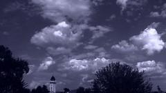 Clouds. (ALEKSANDR RYBAK) Tags: облака небо облачность летний день солнечній свет лето погода сезон природа деревья ратуша clouds sky cloud cover summer day sunny shine weather season nature trees town hall tree landscape sunset roofs