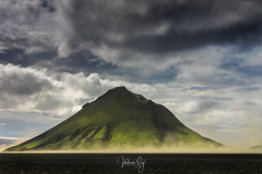 Another one bites the dust. (Valeria Sig) Tags: iceland landscape mælifell green mountain canon5dmarkiv sky