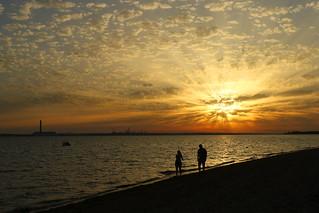Sunset from Meon Shore tonight (Hampshire, UK)