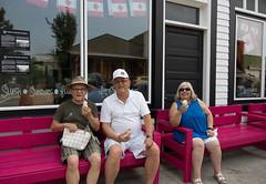 18GD3230 (wdwornik) Tags: 45pictures albertacanada bellevue crowsnestpass icecream tourism benches gwd historic pinks